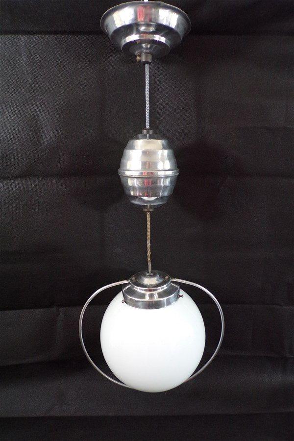 Opaline Monte Suspension Vintage Blanche Lustre Baisse Et c3FJKTl1