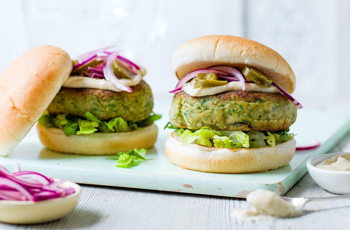 Falafel burger Recipe in 2020 Food recipes, Tesco real