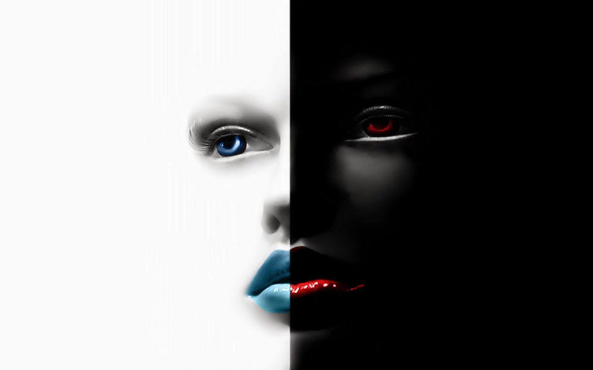Connu Fond d'écran hd : visage noir et blanc   Fond d'écran hd gratuit  IX82