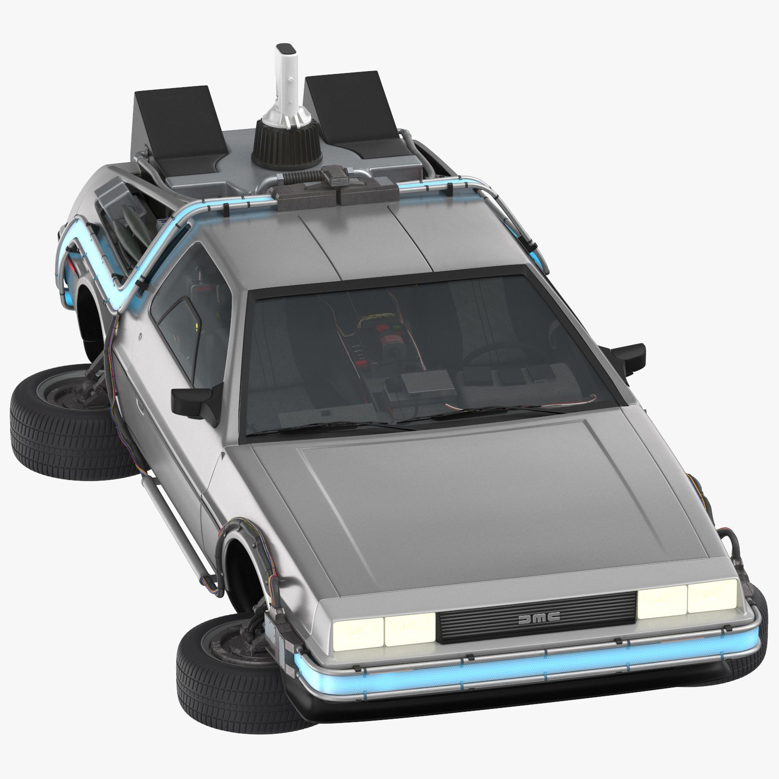 Delorean Back To The Future Driving And Flying 3d Model