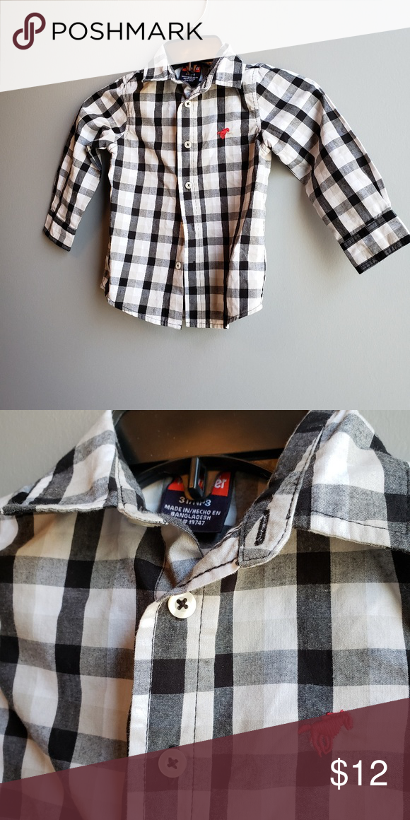 The Children/'s Place Boys Button-Up Size S 5//6 Red Blue Plaid 50/% Off NWT New