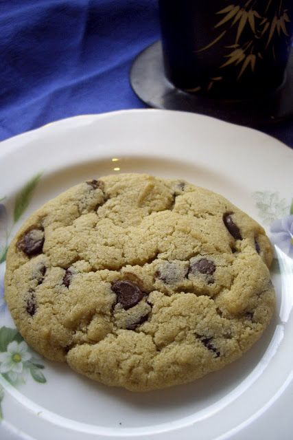 Vegan 'Subway Cookies'. Absolutely brilliant, I made a few alterations (sub 1 tsp cream of tartar and 1/2 tsp baking soda for 1 tsp baking powder and 1/4 tsp baking soda. I also used rainbow dark choc-chips, just for fun). This is a fantastic recipe for vegans, and your omnivorous friends won't be able to tell the difference!