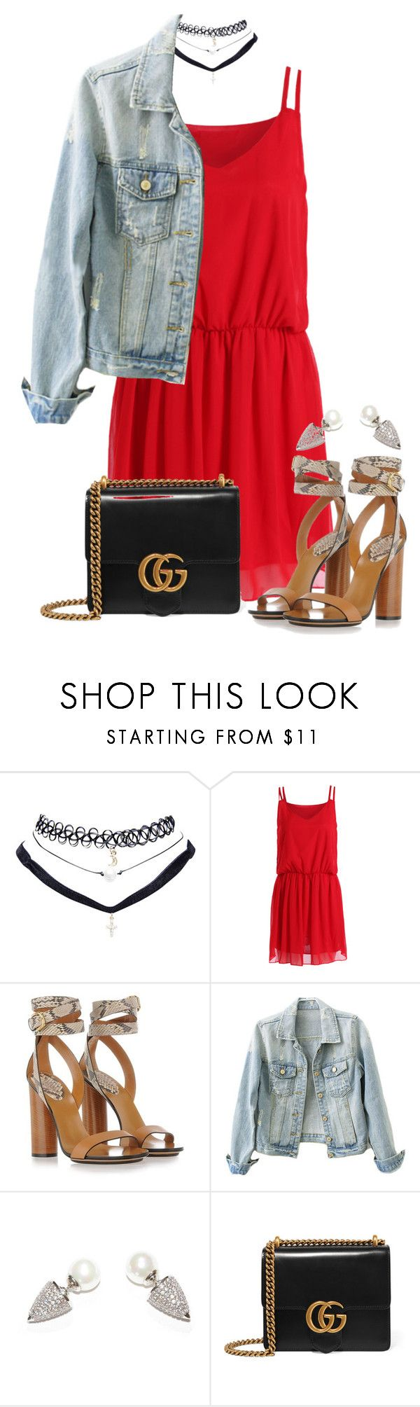 """""""GG"""" by jloveespinal ❤ liked on Polyvore featuring Wet Seal and Gucci"""