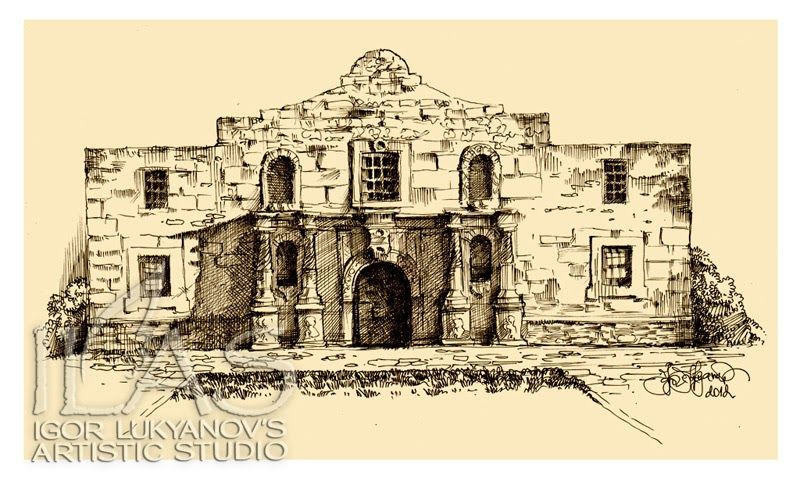 Drawing of the alamo with images alamo drawings art