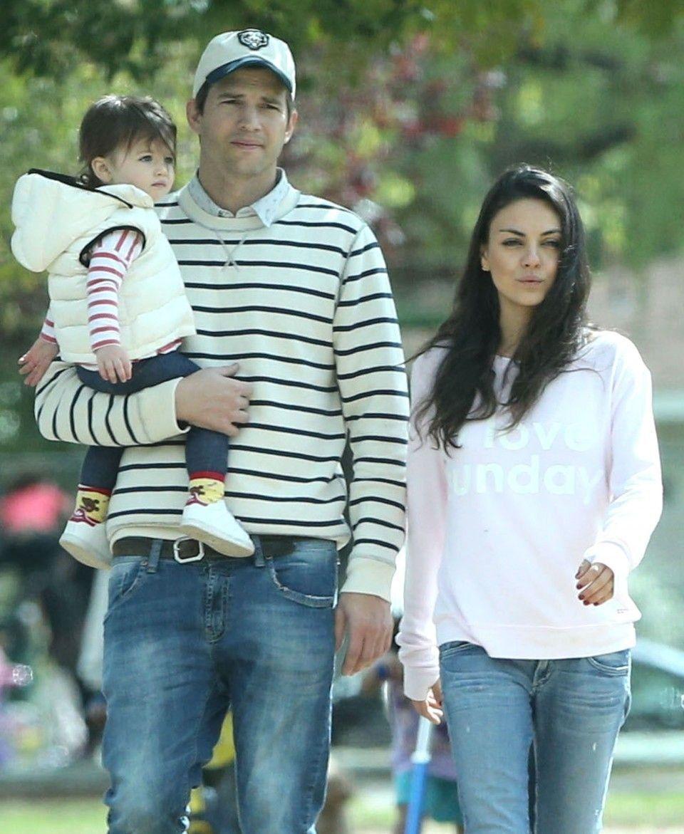 Mila Kunis Daughter Pictures Ashton Kutcher Mila Kunis Ashton