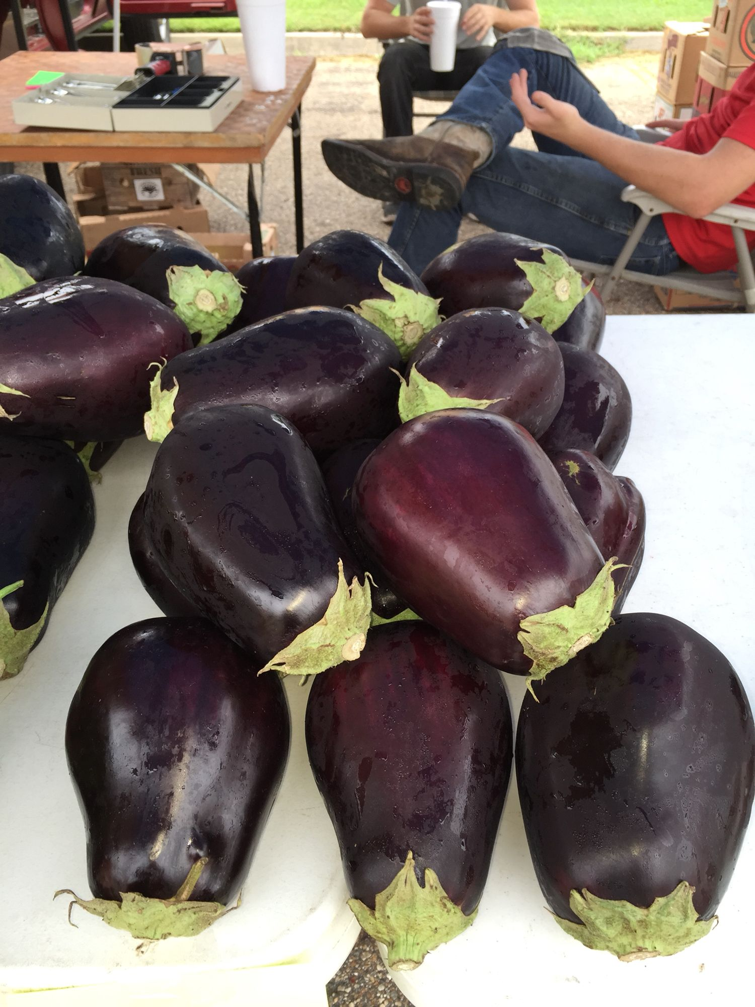 Eggplant from Macs. Ruston Farmers Market