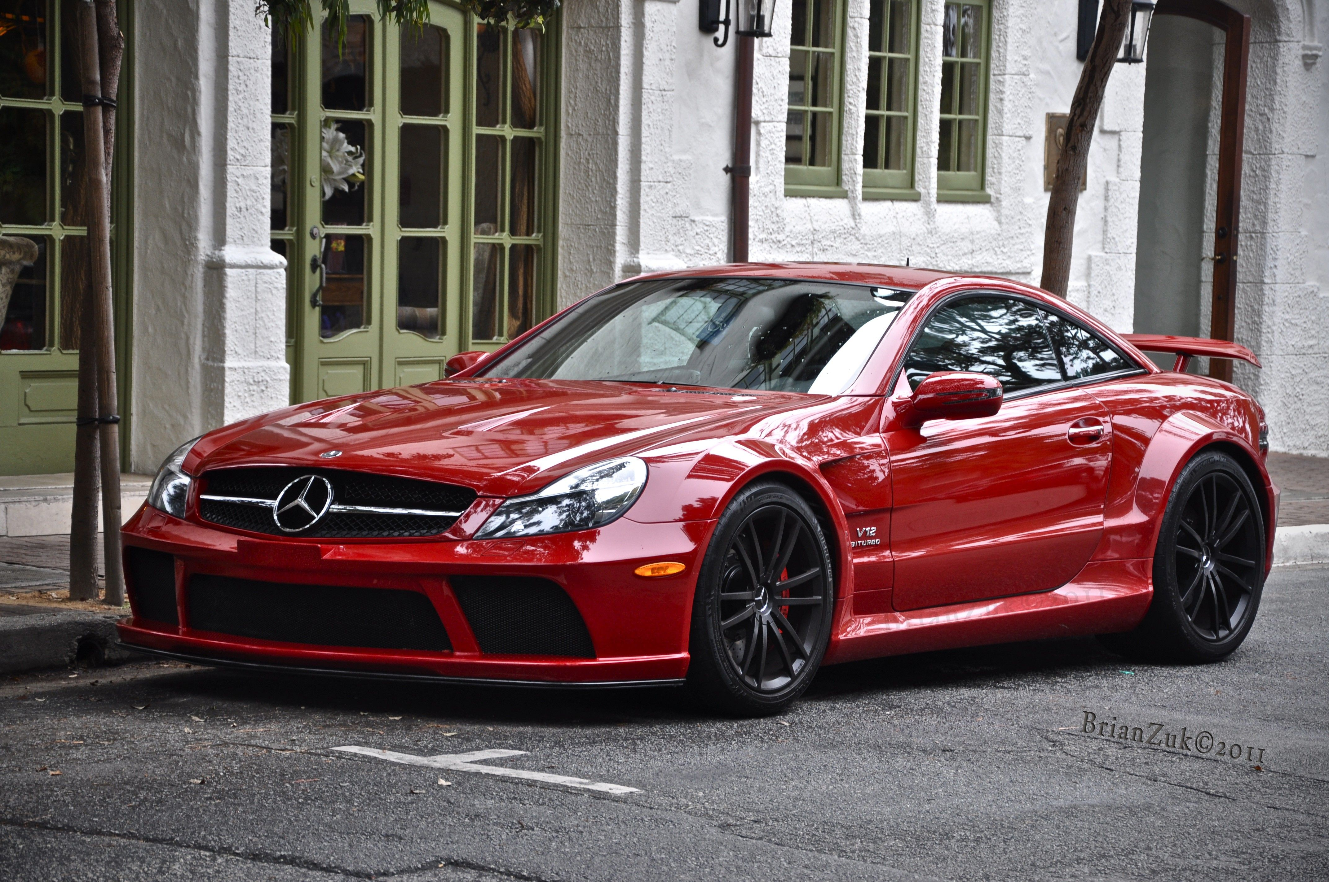 BrianZuk spots an absolutely stunning RED Mercedes SL65 AMG Black ...