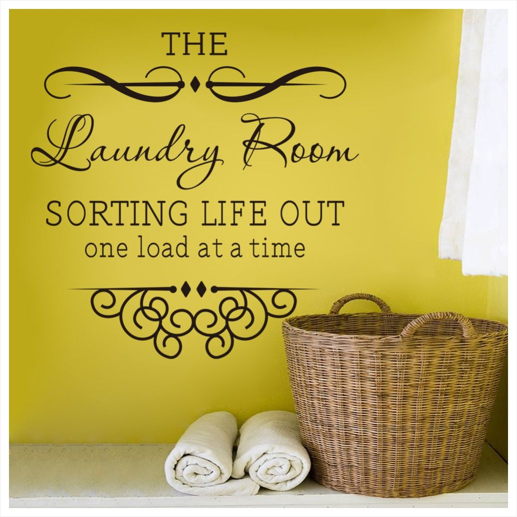 simple-laundry-room-wall-decor-ideas-yellow-color-paint-black-colors ...