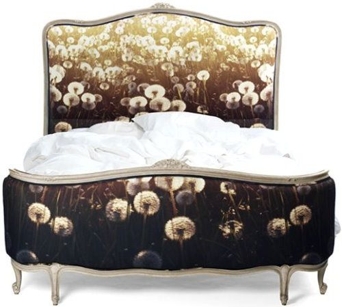 digitally printed fabric for french bed by chair-couture