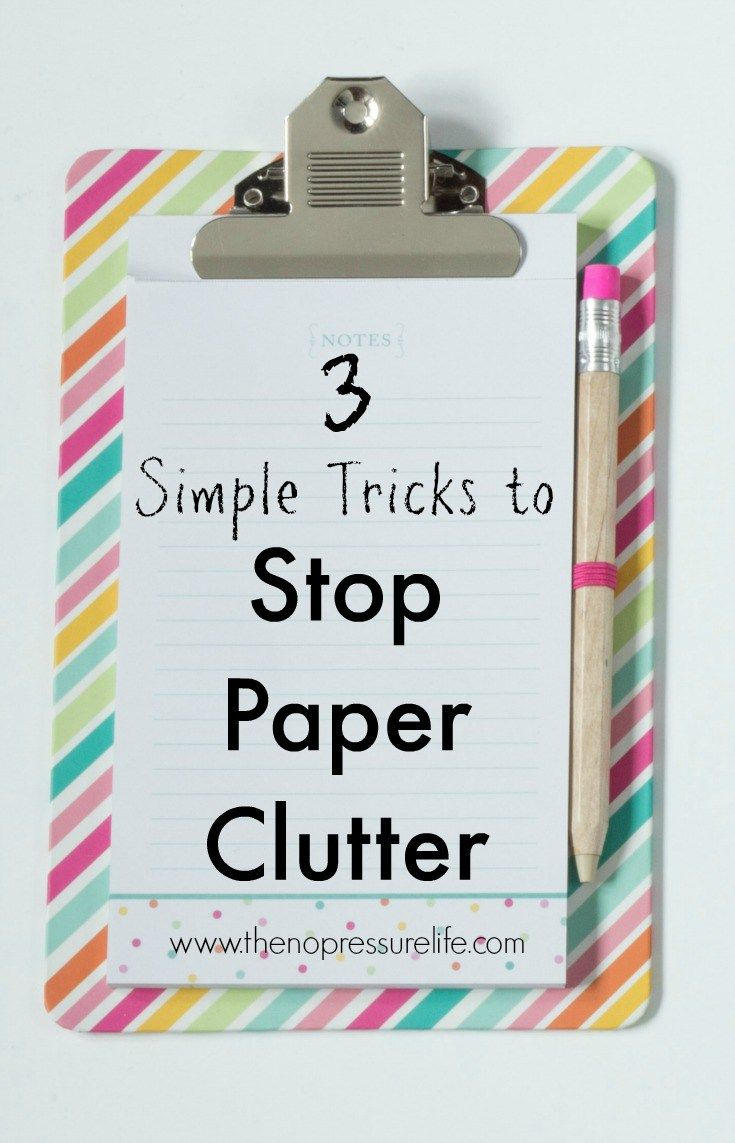 Curb Paper Clutter at Home photo
