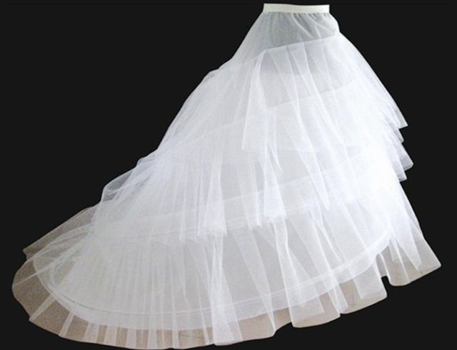 Jupon Mariage 2019 New Elastic Waist White Tulle 4hoops Petticoats Wholesale Enaguas Para El Vestido De Boda Cheap Wide Selection; Petticoats Wedding Accessories