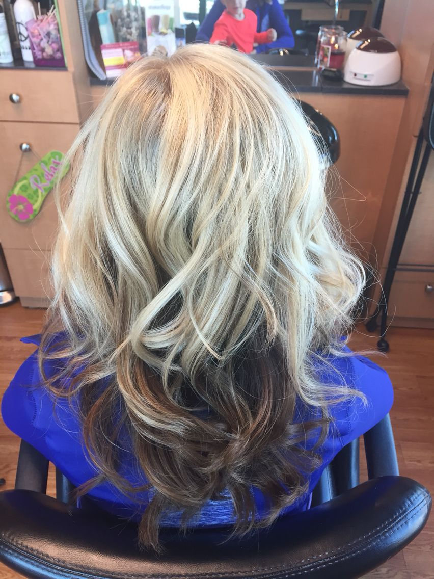 Blonde On Top Dark Underneath Hair Inspiration Color
