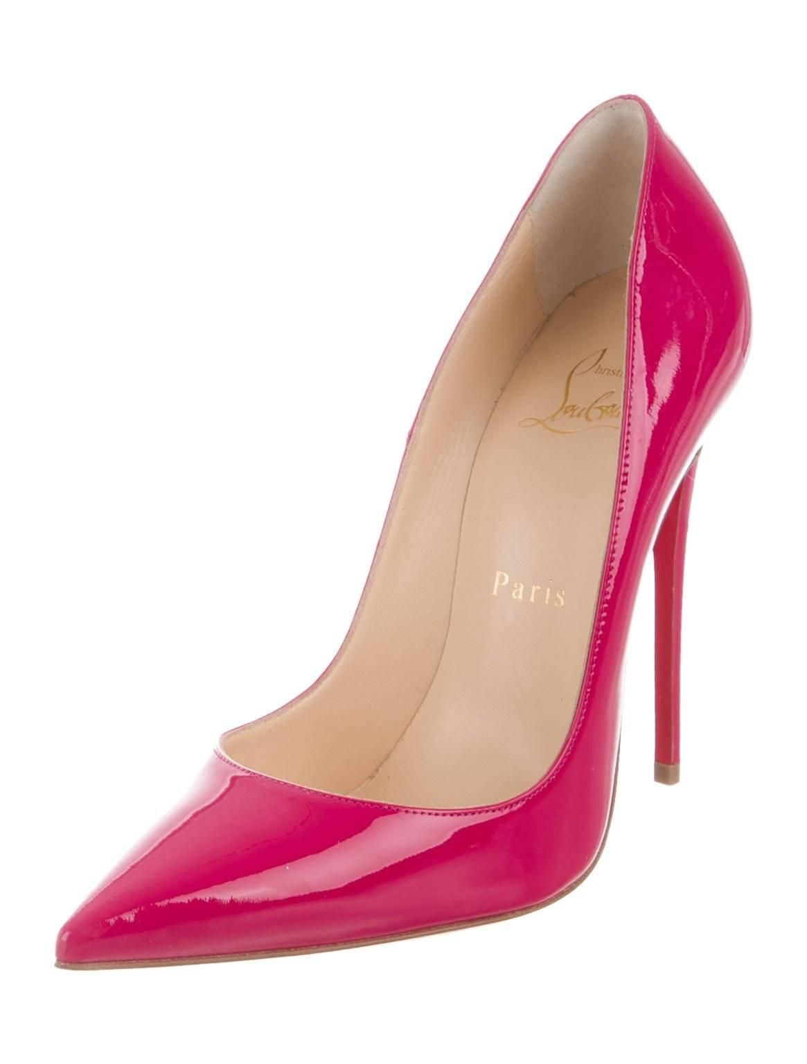 cb903a878 Christian Louboutin New Fuchsia Patent Leather So Kate High Heels Pumps For  Sale at 1stdibs
