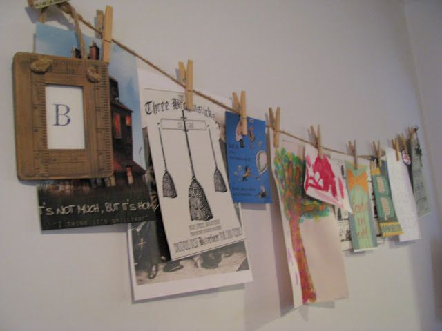 letter of the week, displayed on the art wall. (the burrow, broomsticks, bow ties, & booksellers)