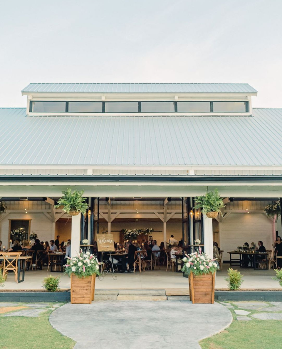 An Industrial Farmhouse Meets Modern Wedding Venue Meadows At Mossy Creek Is The Perfect Blend Of Rus Mossy Creek Farmhouse Wedding Venue Modern Wedding Venue