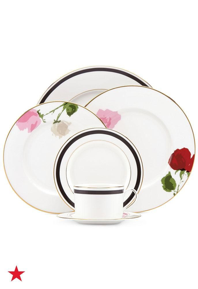 Serve your favorite desserts and light bites on the prettiest kate spade new york Rose Park china this Galentine's Day! Available now at macys.com.