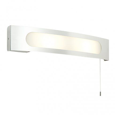 Endon Lighting Convesso 2 Light Switched Bathroom Wall Fitting In Polished Stainless Steel Finish With Built In Shaver Socket Wall Light Fittings Bathroom Wall Lights Wall Lights