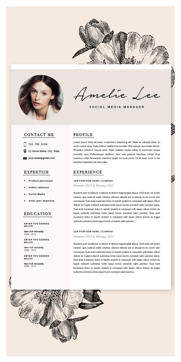 Creative Resume Template Minimalist Resume Cv Design Resume Etsy In 2020 Cv Design Creative Resume Graphic Design Jobs