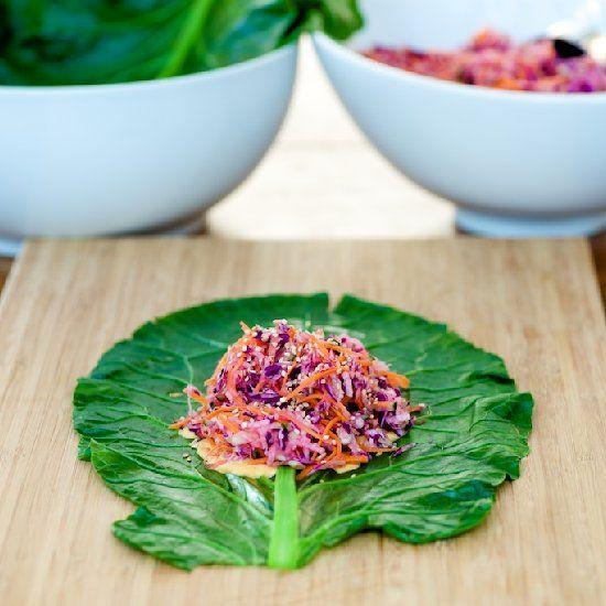 This creamy veggie collard wrap can help balance hormones, deliciously.