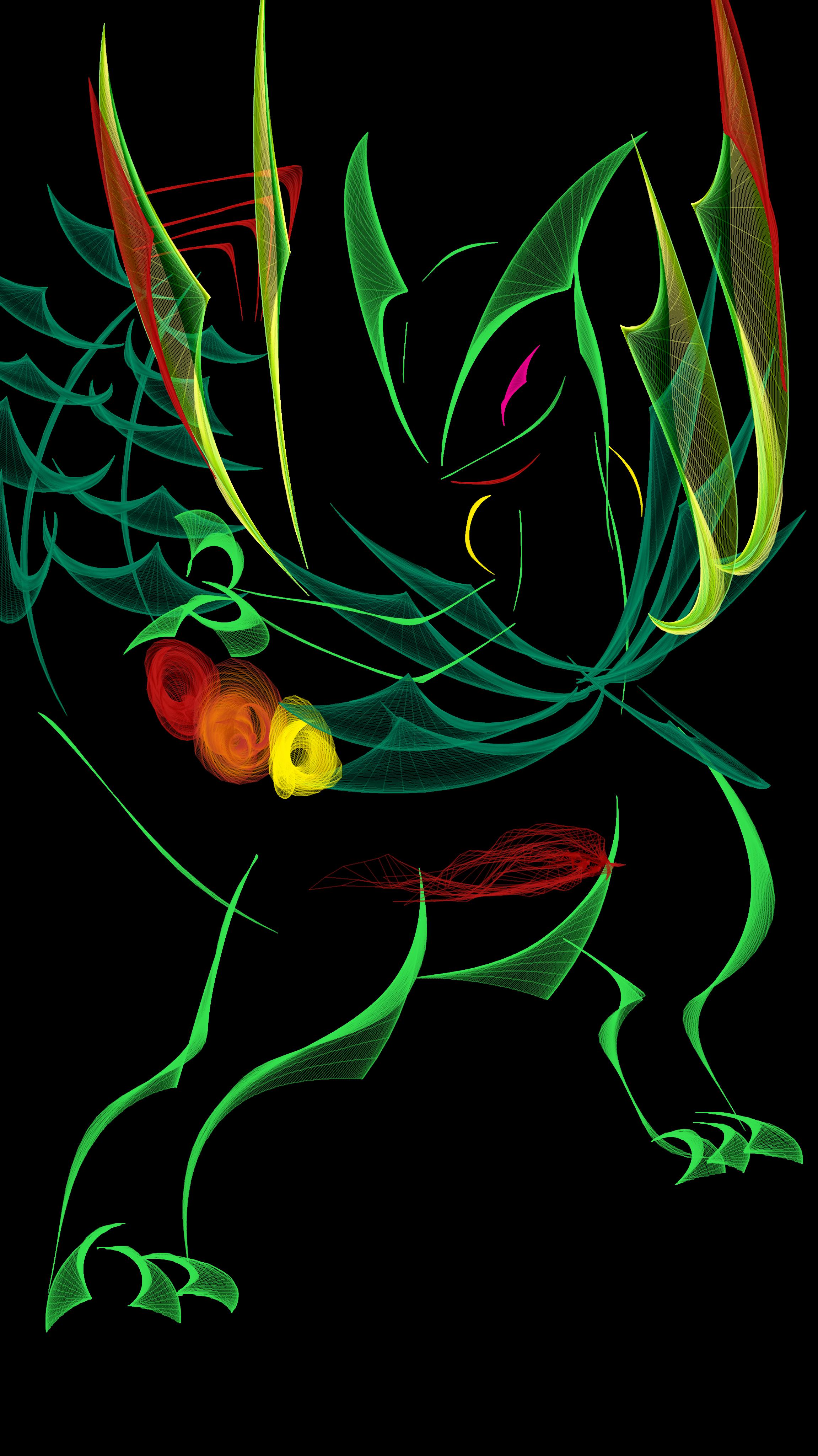 Flowpaperでメガジュカイン ポケモンファンアート ポケモン 壁紙 かっこいい ポケモン 絵