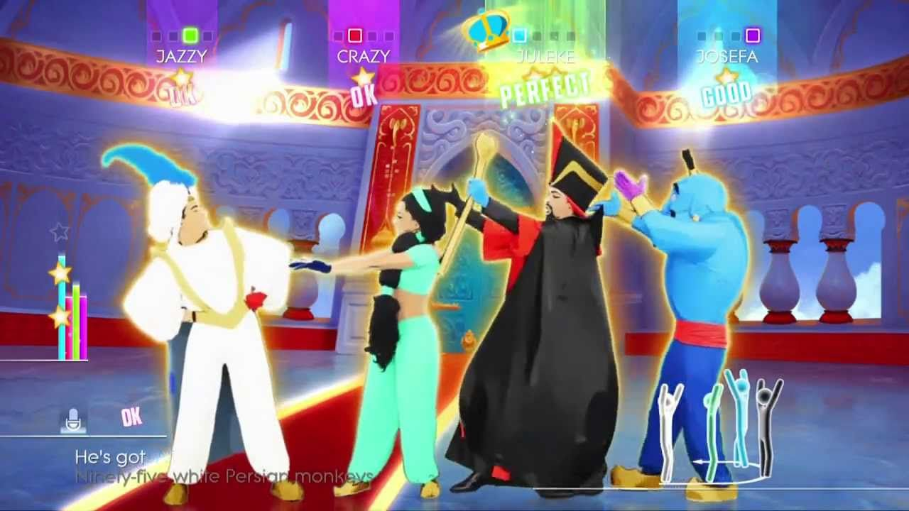 Just Dance 2014 Wii U Gameplay Disney S Aladdin Prince Ali In 2020 Kids Dance Songs Just Dance 2014 Just Dance