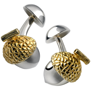 Thomas Pink silver and gold-plated Acorn cuff links