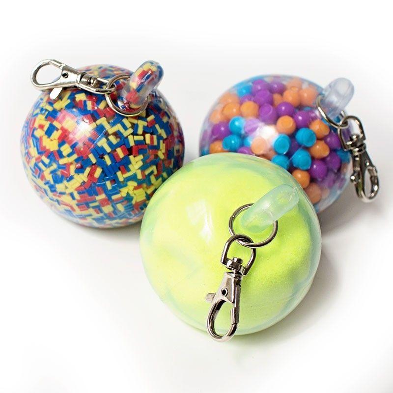 Durable Fidget Key Chain Balls   Stress Ball Fidget Hand Strengthening Toy