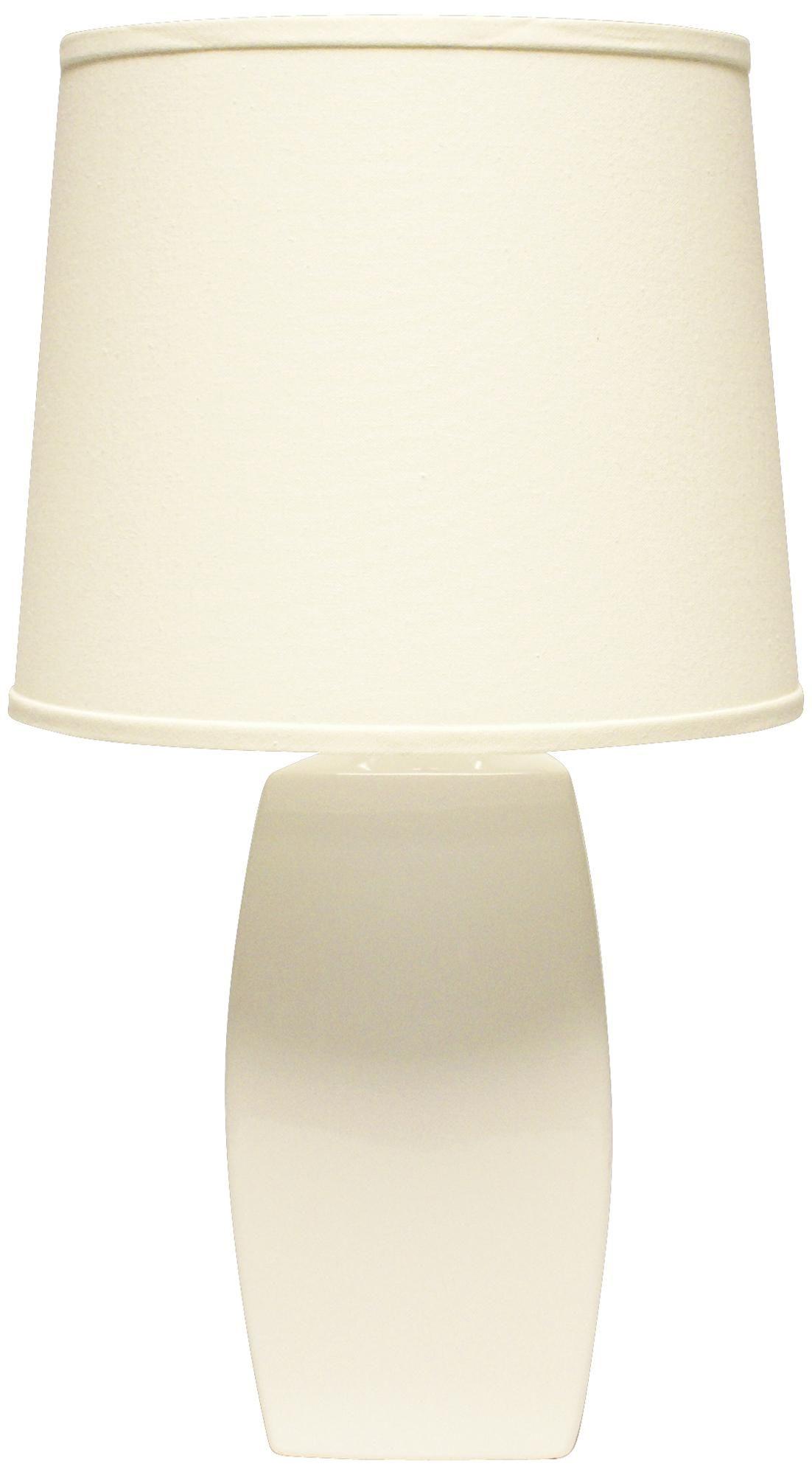 Haeger Potteries White Ceramic Soft Rectangle Table Lamp Table Lamp Rectangle Table White Ceramics