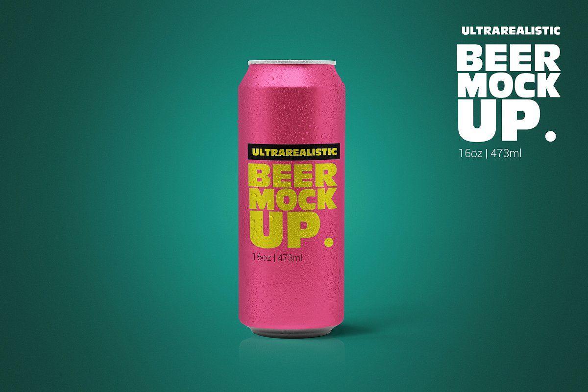 16oz Clean Beer Can Mockup Beer Can Beer Logo Mockup