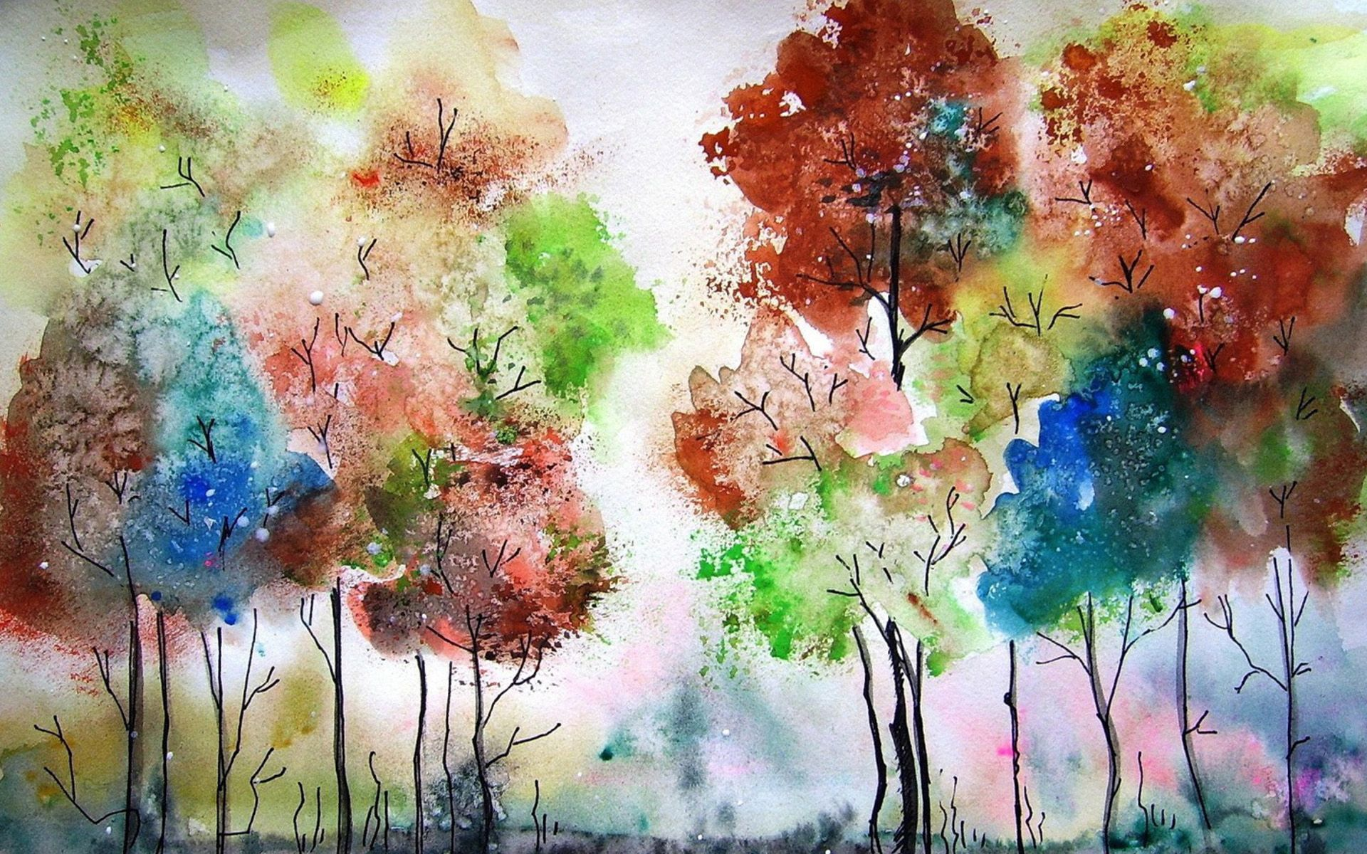 Watercolor Wallpaper Hd Papel Tapiz De Acuarela Pinturas