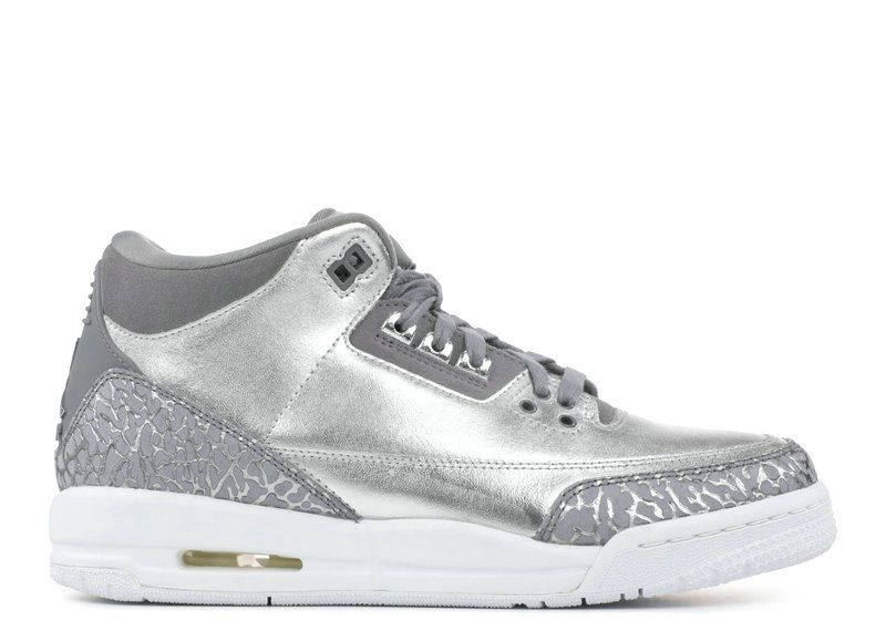 sports shoes 4cd31 a4760 2018 Factory Authentic AIR JORDAN 3 RETRO HC CHROME metallic silver cool  grey aa1243 020