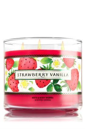 Strawberry Vanilla 3 Wick Candle Bath Amp Body Works