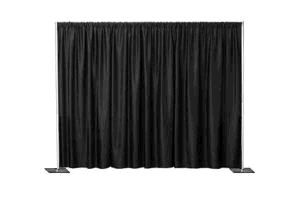 Black Solid Poly Drape. Contact ABC Rentals Special Events to rent items for your wedding or special event. #SiouxFallsWedding #HeadTable