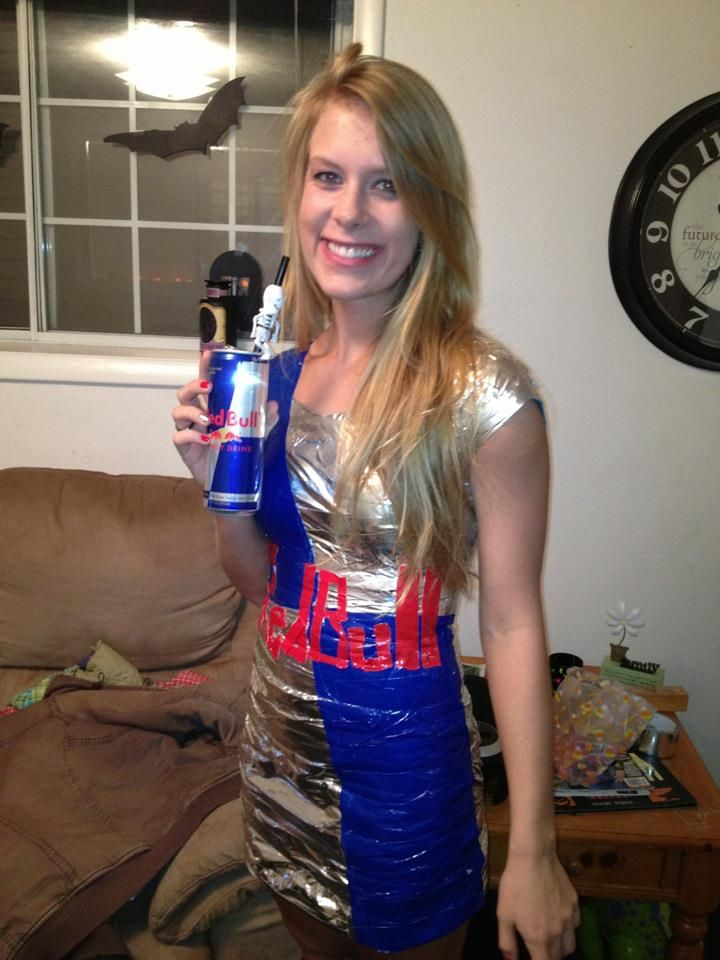 2012 costume duct tape red bull dress halloween
