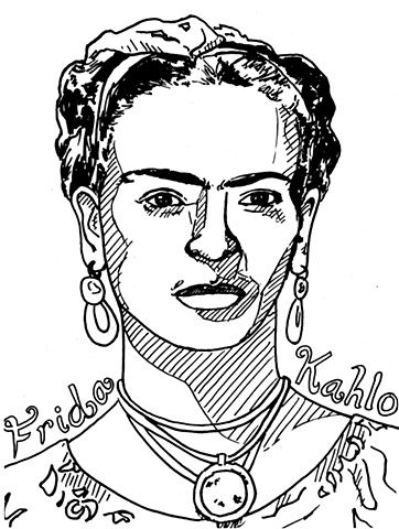 Frida Kahlo coloring sheet | Women | Pinterest | Frida kahlo and Artwork