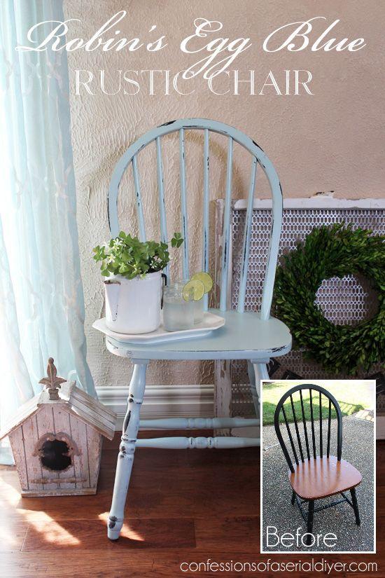 Captivating Robinu0027s Egg Blue Chair Makeover