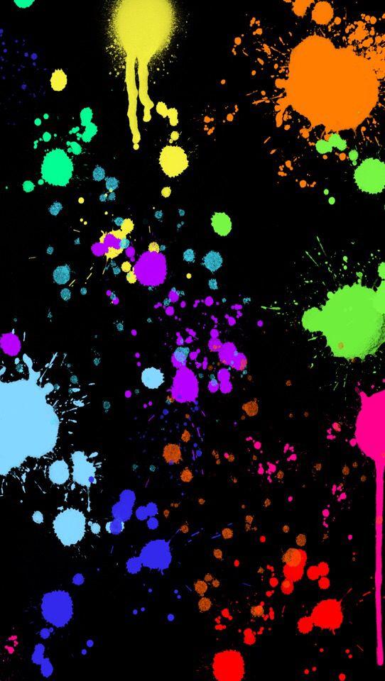Splatter Paint Colourful Wallpaper Iphone Painting Wallpaper Wallpaper Iphone Neon
