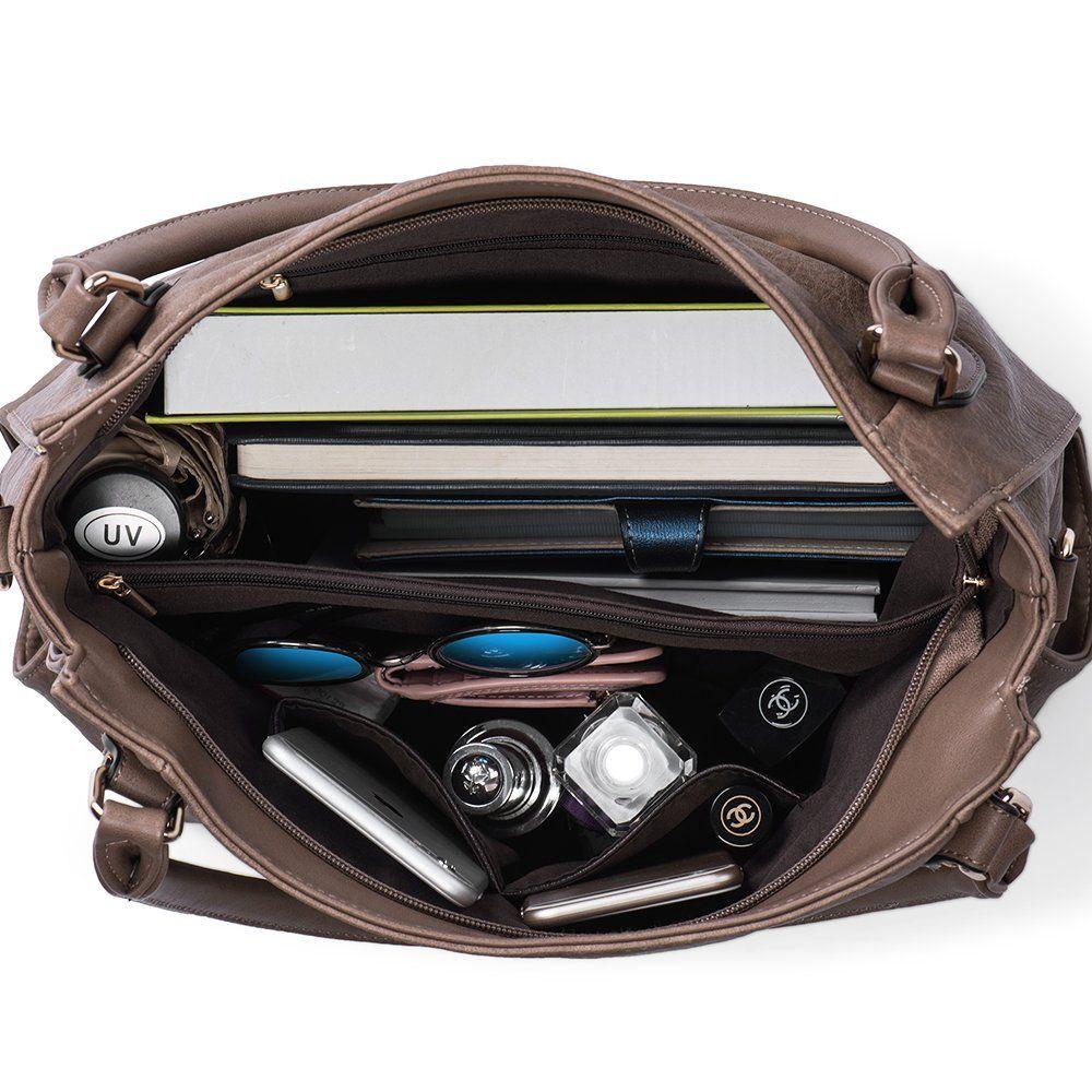Handbags for Women Shoulder Tote Zipper Purse PU Leather Top-handle Satchel  Bags Ladies Medium 86021cbd4c3fe