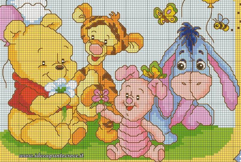 Schemi winnie the pooh idee a punto croce cr ations for Winnie the pooh punto croce schemi