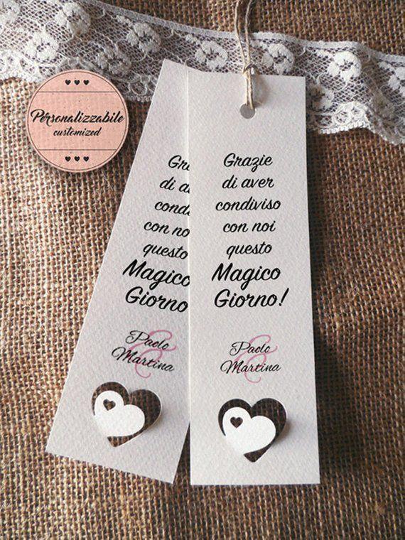 Segnalibro Segnaposto Matrimonio.Wedding Placeholders Customizable Wedding Bookmark Remember