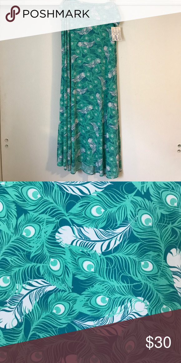 Clothing, Shoes & Accessories New Lularoe Maxi Skirt L Large Blue Turquoise