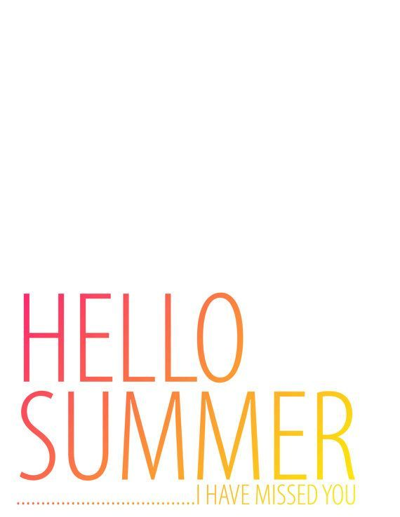 Hello Summer Typography By HeCallsMeGrac
