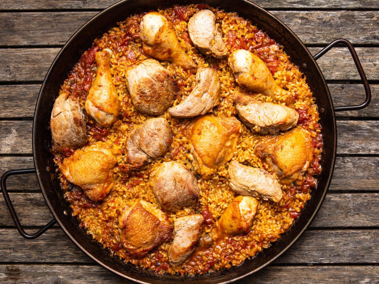 Grilled Chicken and Pork Paella Recipe