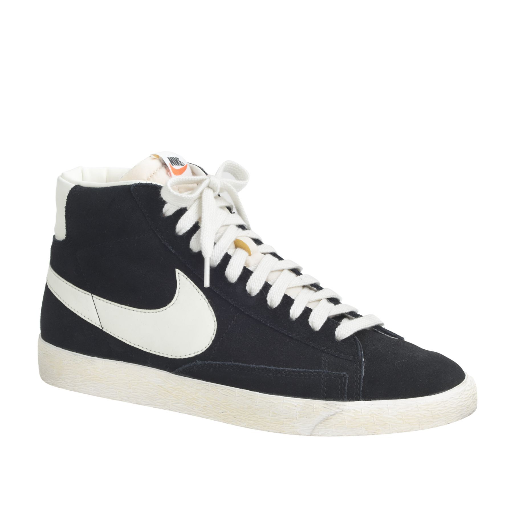 Men's Nike Blazer high suede vintage sneakers in black sail at J.Crew.