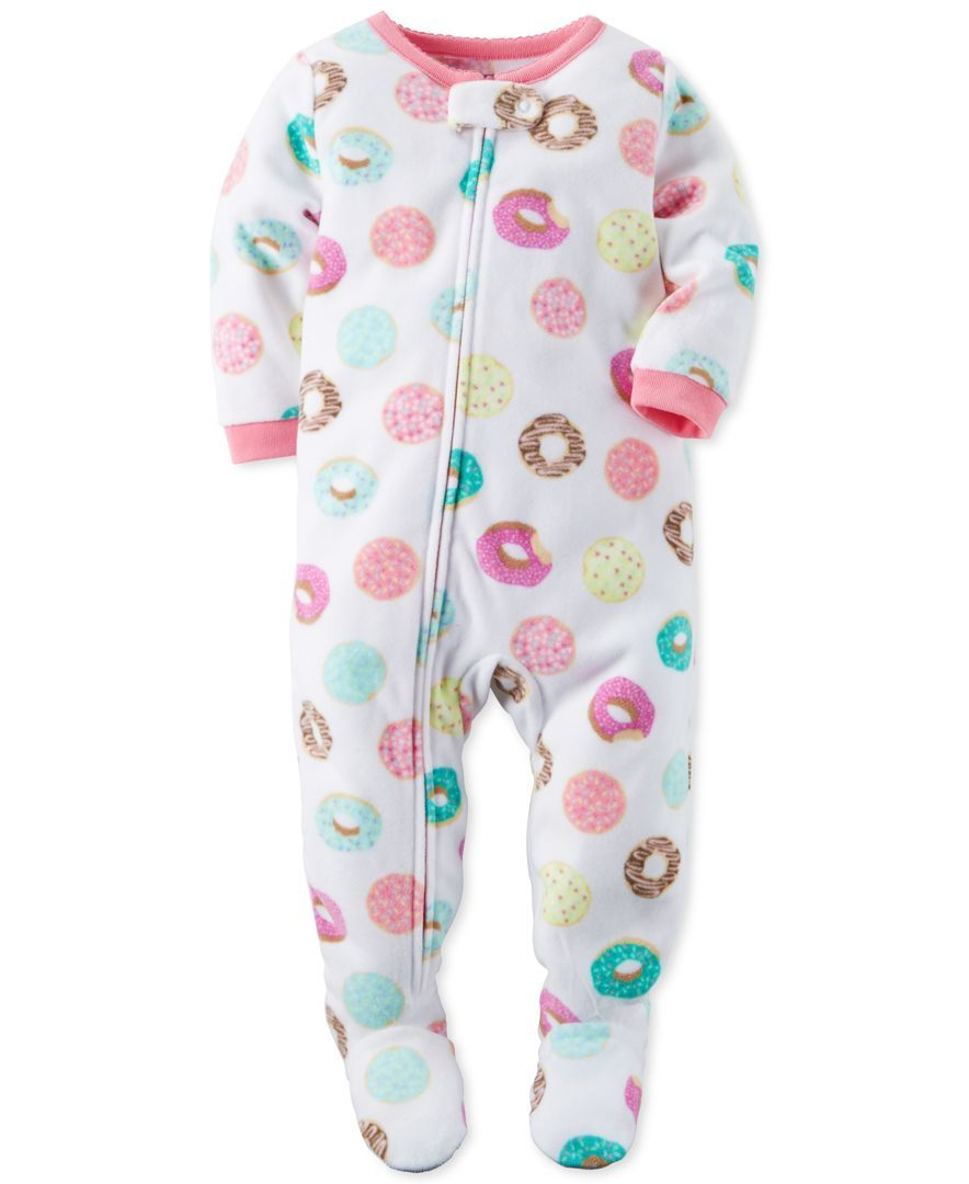 ccfc0e9ae Carter s Baby Girls  1-Pc. Donut-Print Footed Pajamas