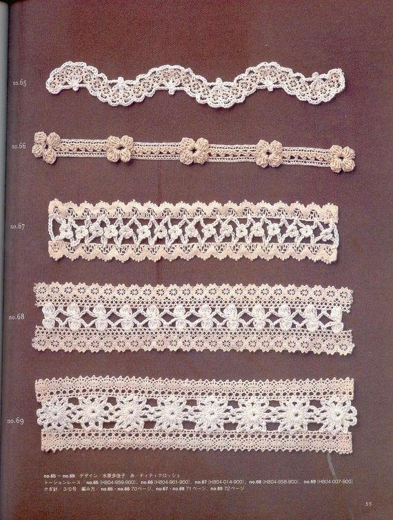 Japanese Crochet Motif Patterns Book Japanese Crochet Lace Trim