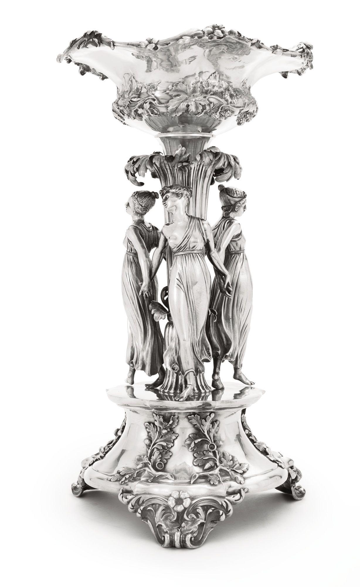 Una figura central de plata de William IV, Edward, Edward Jr., John y W. Barnard, Londres, 1832