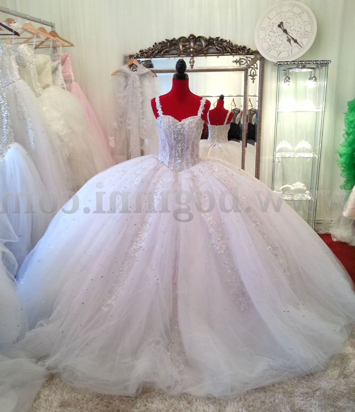 Big White Wedding Dresses With Diamonds Ball Gowns Wedding Ball Gowns Bridal Dresses [ 1586 x 1365 Pixel ]