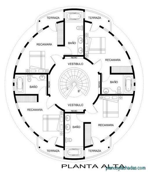 Planos Casas Circulares 2 Planos De Casas Casa Circular Disenos De Casas