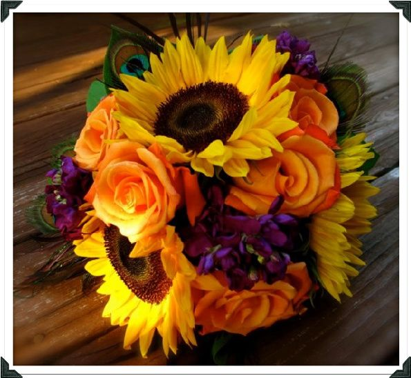 Love this for a bouquet yellow orange and purple wedding color love this for a bouquet yellow orange and purple wedding color combination mightylinksfo